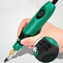Electric grinder small hand-held electric grinder jade polishing pen micro-drill wood, stone carving tools Epoxy polishing multi function diy jade polish machine mini electric cutter tools for stone jade wood with 350w 27000r min