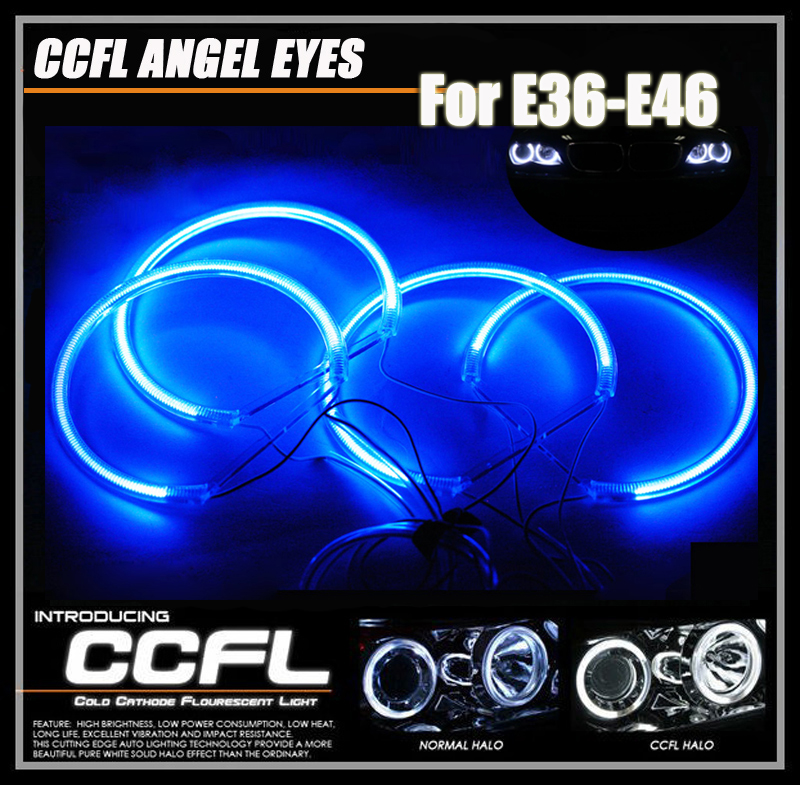 super bright ccfl angel eyes halo rings headlight kit for. Black Bedroom Furniture Sets. Home Design Ideas