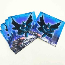 20pc Cute Cartoon Batman Party Supplies Paper Napkin Birthday Party Decoration And Festival Event Superhero 20pc set cute cartoon batman party supplies paper napkin boys motion batman decoration and birthday party supplies for kids