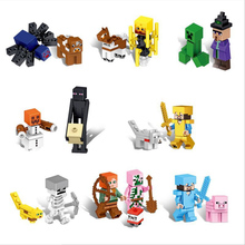 16 in 1 Childrens educational building blocks toy My world series Pixel style