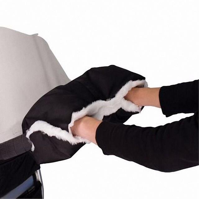 Cochecito de bebé Guantes de invierno a prueba de agua anti-freeze cochecito carro de bebé niños buggy embrague cesta guante manguito manguito mano TC01