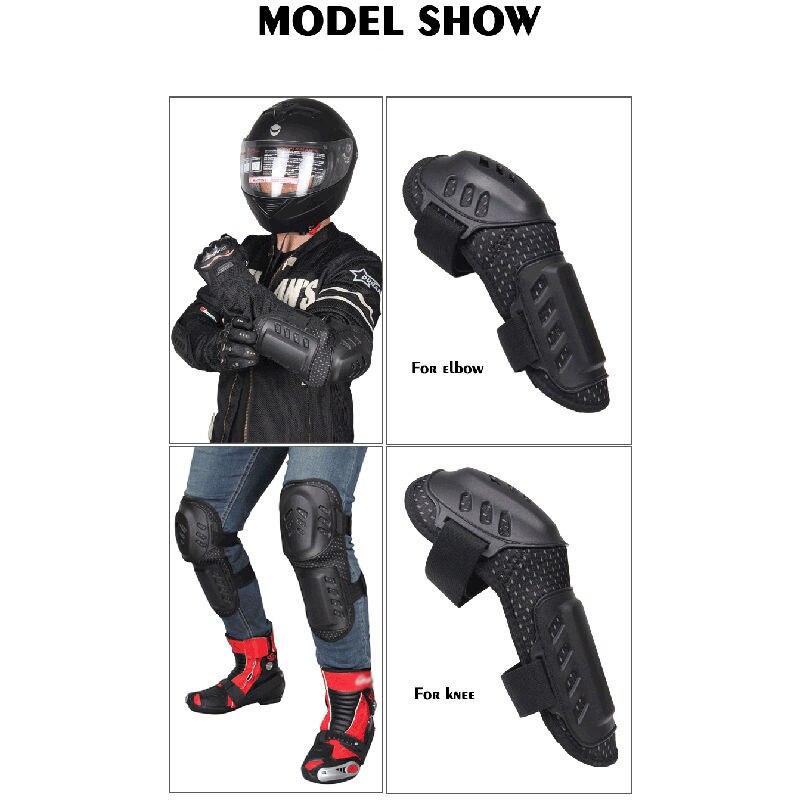 Moto protecteur genou coude dur course armure garde réglable bande élastique - 3