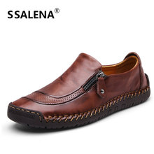 Men Loafers Moccasins Slip On Shoes Driving Boat Flats Men Comfortable Oxford Shoes Summer Autumn Leather Casual Shoes AA12294