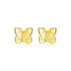 Декоративные бабочки серьги-гвоздики 100% 925 пробы-серебро-ювелирные изделия Бесплатная доставка