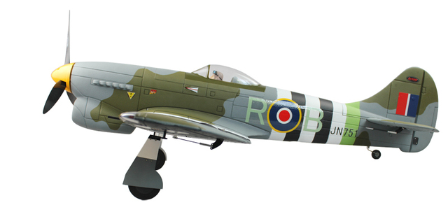 US $213 0 |Dynam RC scale model airplane electric brushless power warbird  2 4Ghz RTF Hawker Tempest EPO 1250mm-in RC Airplanes from Toys & Hobbies on
