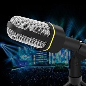 Image 4 - Micrófono de estudio Vocal profesional con cable de 3,5mm, micrófono con soporte Mikrofon para Skype, escritorio, PC, tableta, promoción de Karaoke
