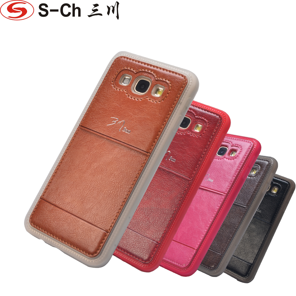 For <font><b>Samsung</b></font> Galaxy A8 <font><b>A8000</b></font> 2015 Top Quality Litchi Grain Leather Mobile Phones Cases Back Cover With Card Slot Free Shipping image