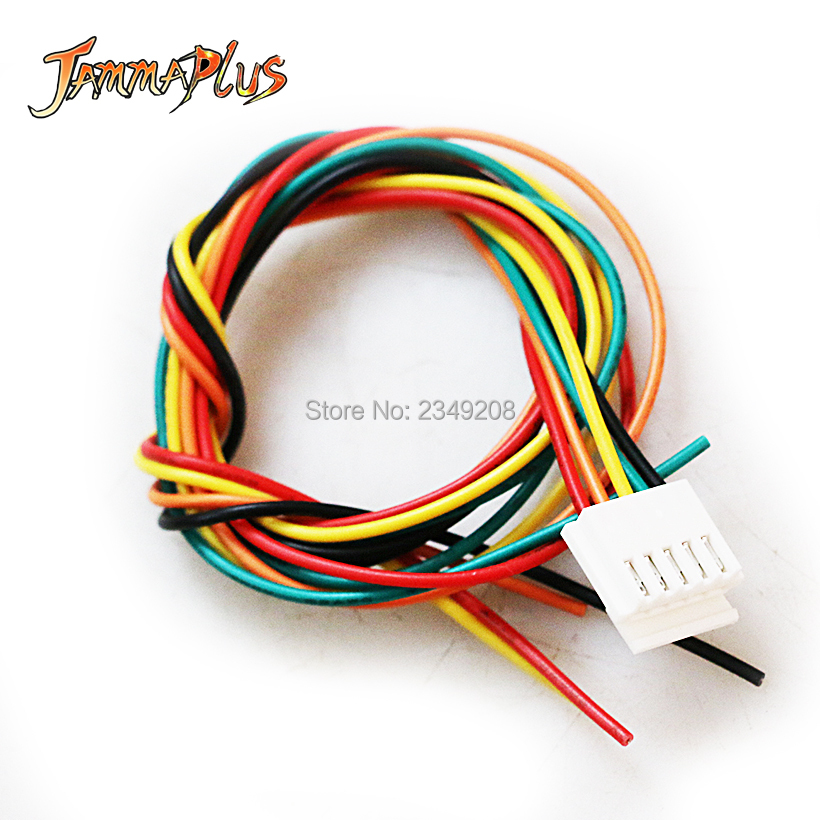 100 Pcs 5pin Arcade Joystick Wires 5 Pin Connector Wiring