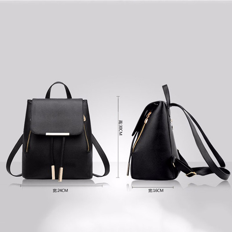 women backpack women 39 s bag pu Leather School Teenagers Girls Preppy Style bags high quality fanshion Causal Embossed backpacks in Backpacks from Luggage amp Bags