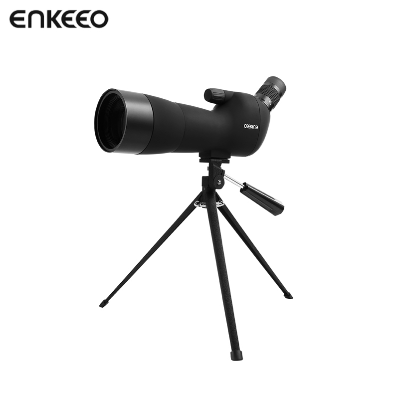 Enkeeo 20-60X60 Angled Spotting Scope with Tripod Fully Multi-Coated Lens Outdoor Shooting Hunting Optics Sports Observing celestron upclose g2 7x35 porro binocular 71250 hd multi coated optics lens professional binoculars for traveling hunting black