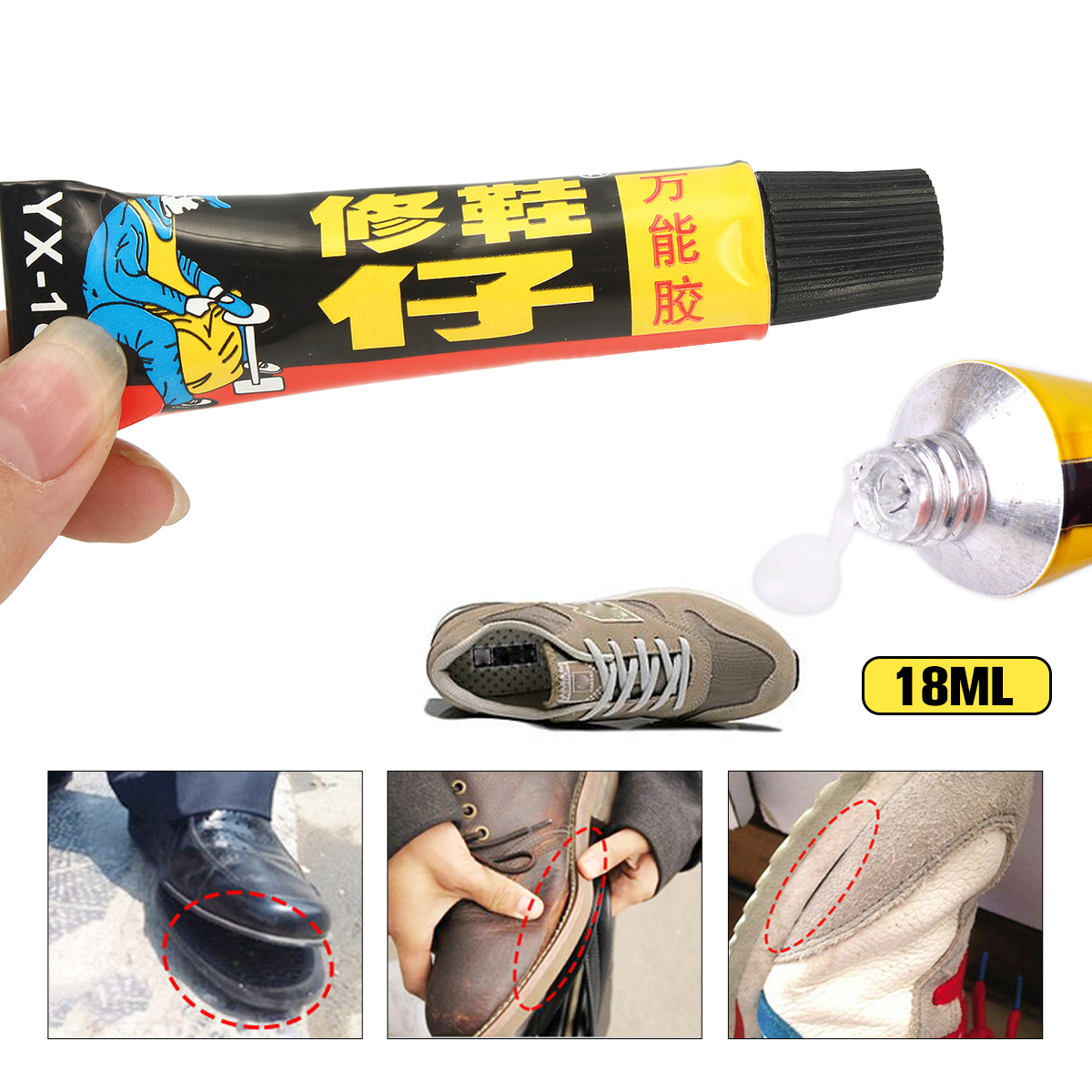 все цены на MTGATHER 18ml Super Adhesive Repair Glue For Shoe Leather Rubber Canvas Tube Strong Bond New Arrival