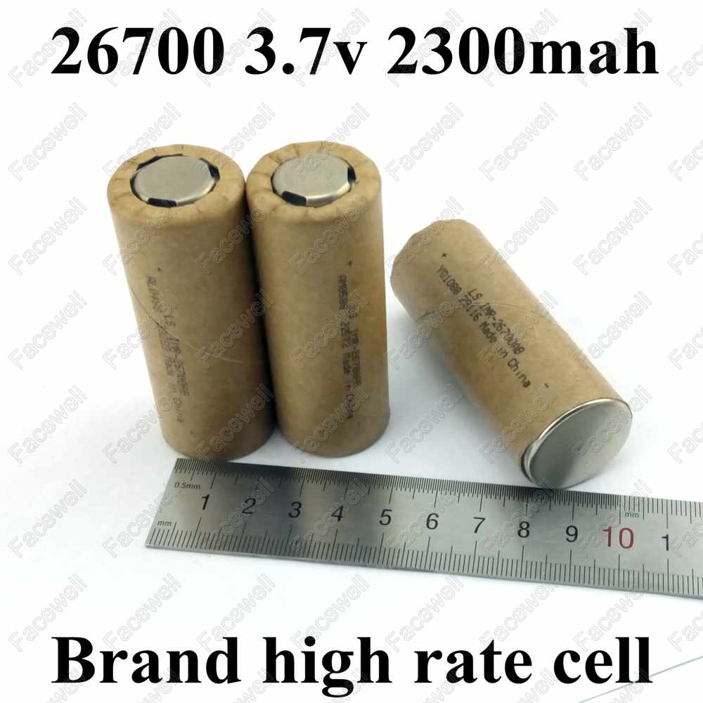 10pcs Genuine GTK 26700 2300mah vs 26650 li-ion 2200mah 3.7v battery 2200 mah rechargeable batteries high rate 20A for e cig mod