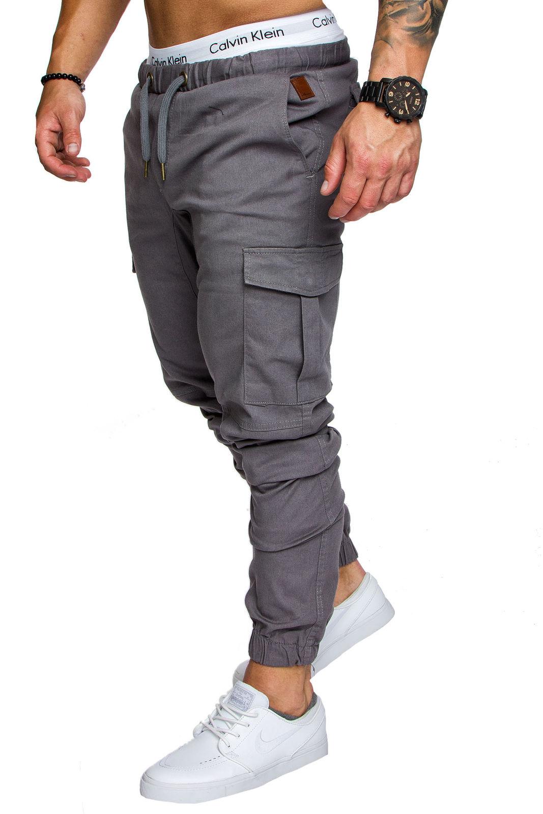 ed39e73eec Calças de Trabalho dos homens Conforto Algodão Macio Tático Militar Do  Exército Combate de Carga Casual Multi-Bolso Dever Calças de Musculação de  Fitness