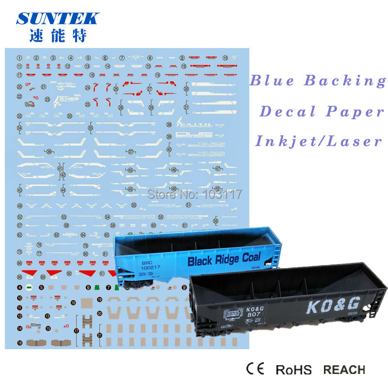 US $54 6 |Water Release Decals Transfers Paper/Sticker Use Inkjet Printer  for Printing Blue Background Glass With CE Certificate-in Painting Paper