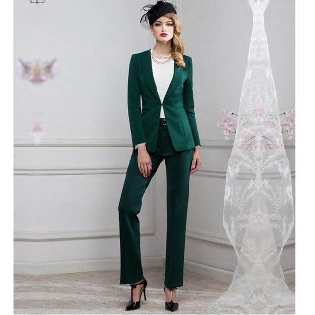Women Pant Suits Women Suit Fashion Professional Ol Dress Business