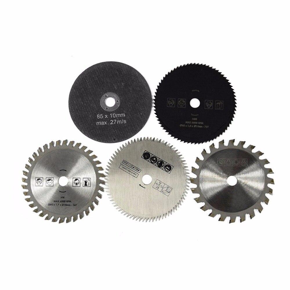 5PCS HSS TCT Circular Saw Blade Set 85x10MM Wood Cutting Discs For Dremel Metal Cutter Rotary Tool Cutting Discs Set