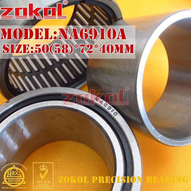 ZOKOL bearing NA6910 A NA6910A Entity ferrule needle roller bearing 50(58)*72*40mm rna4913 heavy duty needle roller bearing entity needle bearing without inner ring 4644913 size 72 90 25