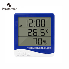 Prostormer  temperature and humidity meter  temperature and humidity calendar clock desktop wall-mounted  Digital display wsk303 frame size 96 96mm led digital display temperature and humidity controller