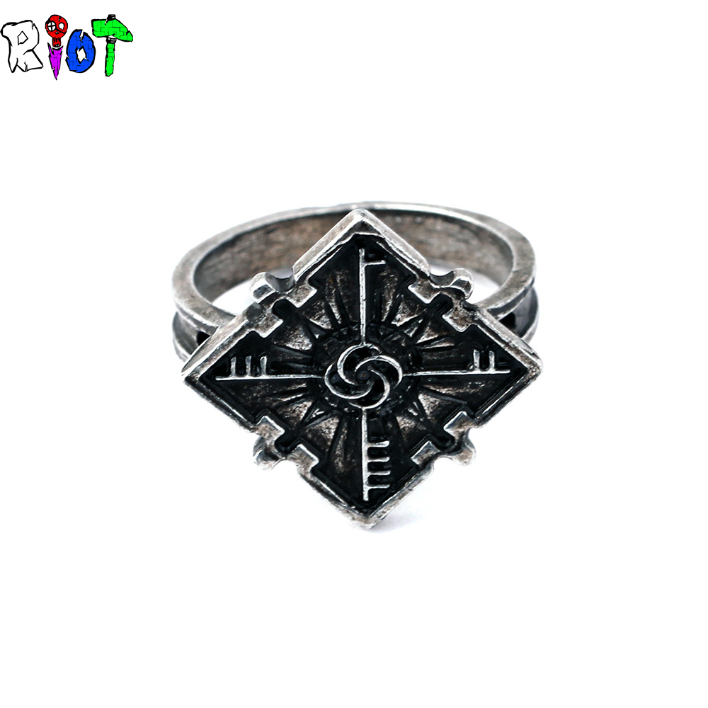 Dishonored2 Mask Emily logo rings Unisex jewelry Zinc