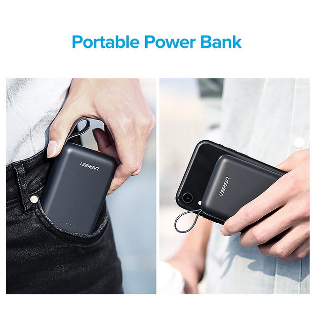 Ugreen Power Bank for Xiaomi Mini Power Bank 10000mAh Portable External Phone Battery Charger for iPhone X Huawei P20 PoverBank