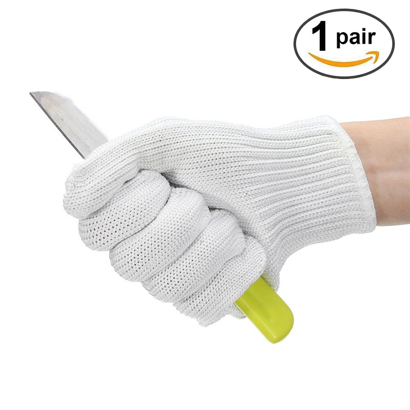 Cut Resistant Anti-cutting Gloves Wearable Anti-glass Scratches White Wire Work Gloves Safety Gloves Cut Metal Mesh Butc 1 pair lleather welding gloves work safety gloves anti cut gloves glass handling circuit boards