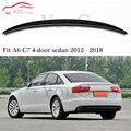 S6 стиль задний спойлер из углеродного волокна крыло багажника для Audi A6 C7 2012-настоящее 4-дверный седан задний бампер багажник багажника задни...