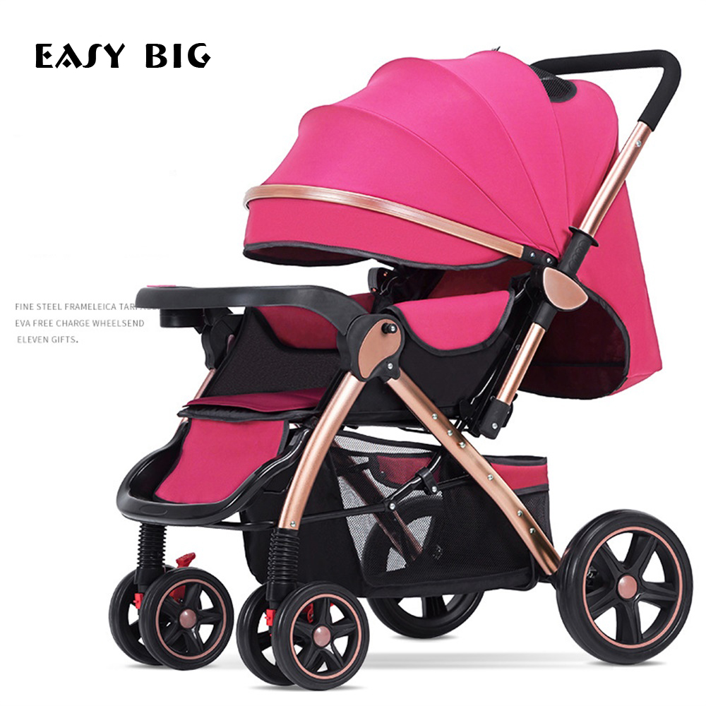 Landau chaud maman poussette pli bidirectionnel quatre roues amortisseur hiver chariot poussette bébé poussette O2K0003