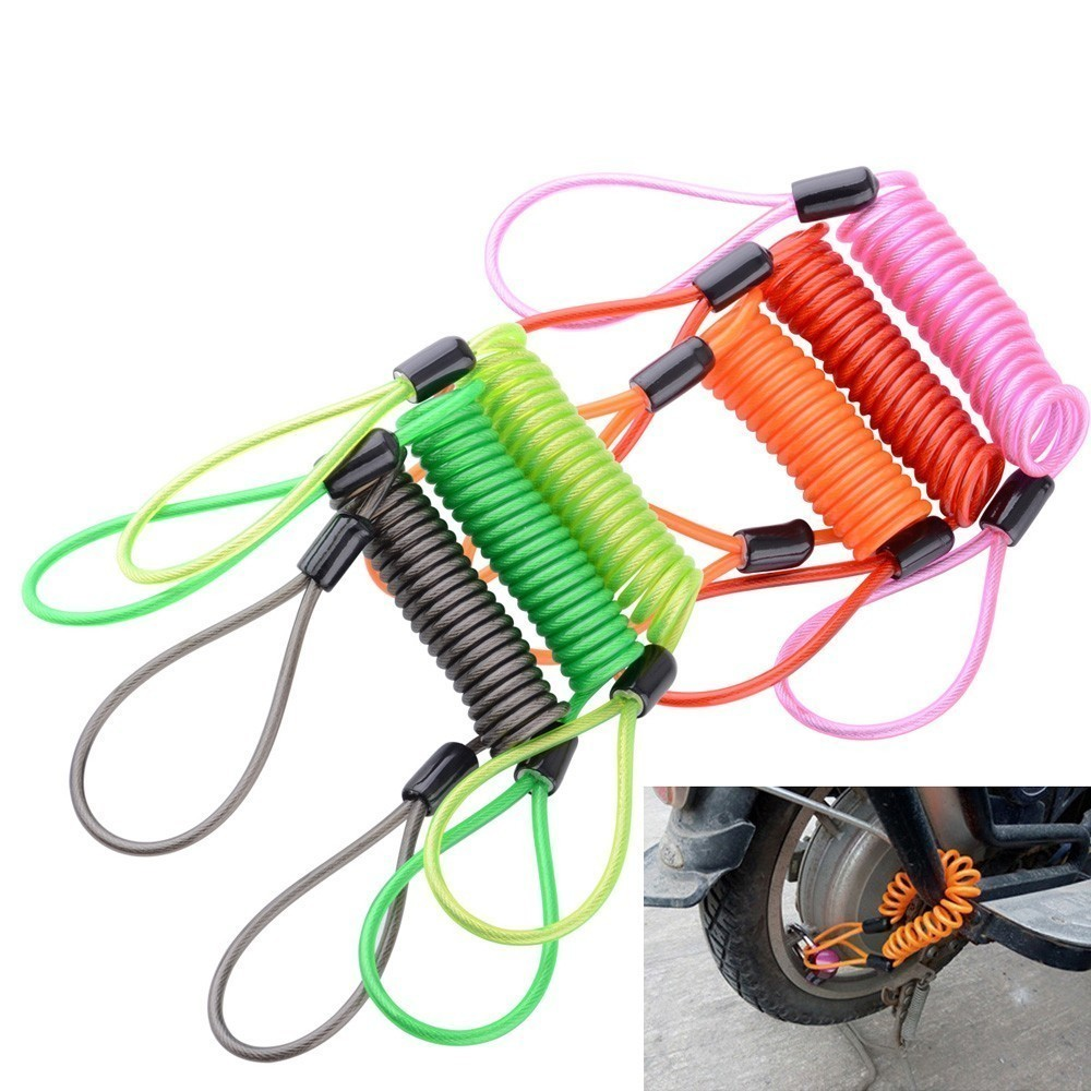 Reminder Anti-theft rope Spring Cable locks Alarm Disc lock Disc Brake Bag