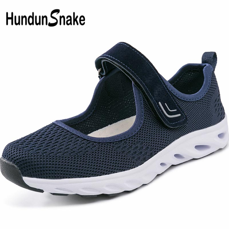 Hundunsnake Mesh Women Running Shoes Sports Women Sport Sneakers Female Shoe Training Summer Footwear Blue Chaussure Femme B-064