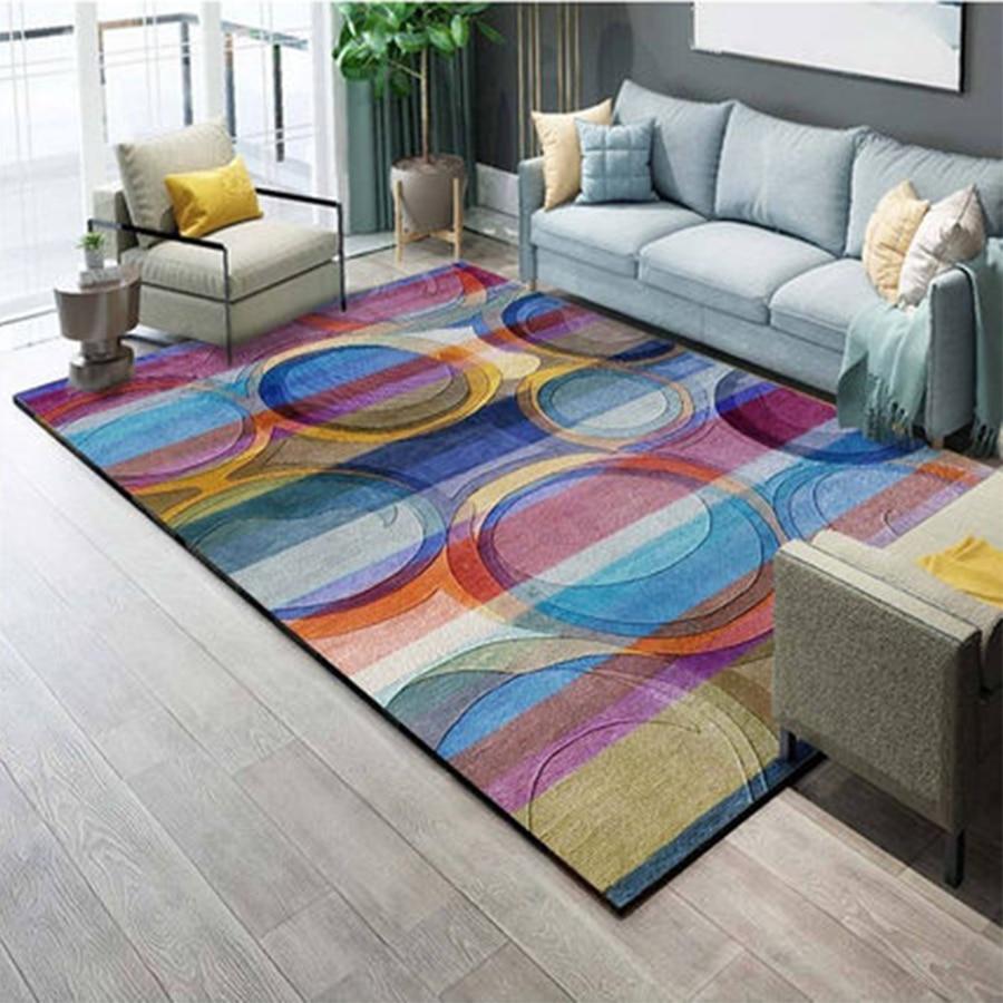 Tapis nordiques tapis doux et tapis pour le salon maison canapé anti-dérapant chaise de bureau tapis de sol tapis de chambre