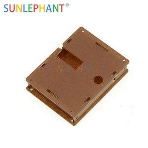 Acrílico transparente Caso Shell Habitação Para LCR-T4 M328 Transistor Testador Capacitância ESR Mega328
