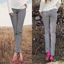Pregnantcy европейская весна/осень упругие плед материнства карандаш леггинсы беременных мода брюки