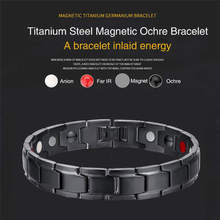 4 Colors New Fashion Therapeutic Energy Healing Bracelet Stainless Steel Magnetic Therapy