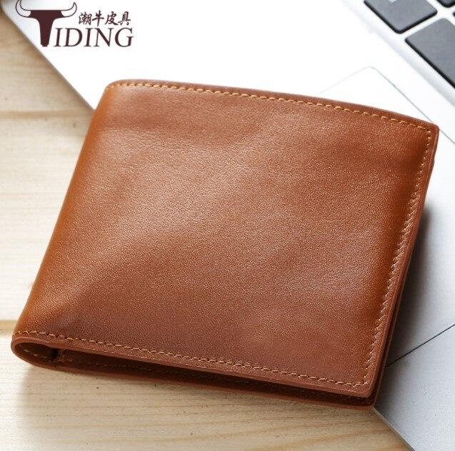 2018 nouveau homme crédit porte-carte s vache en cuir décontracté marque bleu noir marron porte-carte d'identité portefeuilles sac