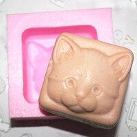 Handgemachte Seife Silikonform Kerzengiessformen Polymer Clay katze gesicht