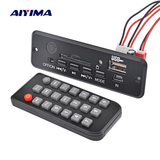 AIYIMA Bluetooth 4.0 Amplifier Board 3W*2 Stereo Amplificador AUX MP3 WAV APE Audio Decoder Board Bluetooth Receiver  DC3.7-5V