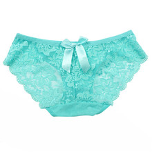 solid low-rise underwear intimates women's sexy lace floral panties seamless panty briefs free shipping