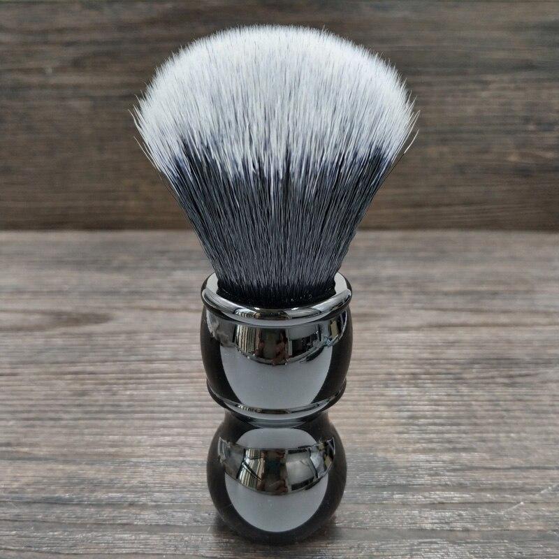 Dscosmetic 24mm 26mm Tuxedo Synthetic Hair Knots Black Handle Shaving Brush  Bread Brush