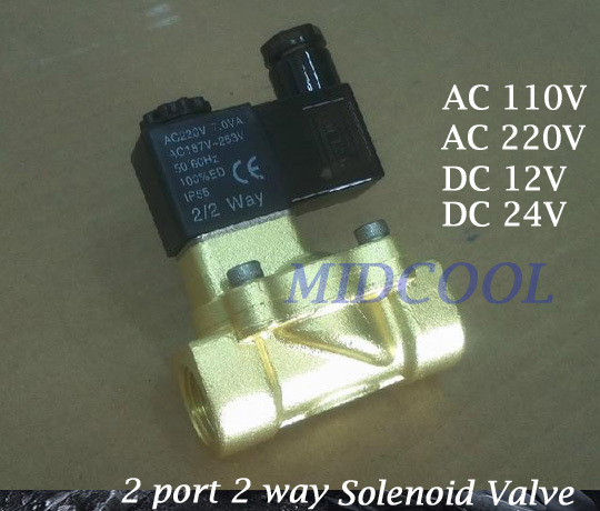 Guide Type Brass Solenoid Valvula de agua 2V130-15 two-position two way normally closed solenoid valve G1/2 AC220V dc24v inner guide type 2 position 3 way solenoid valve