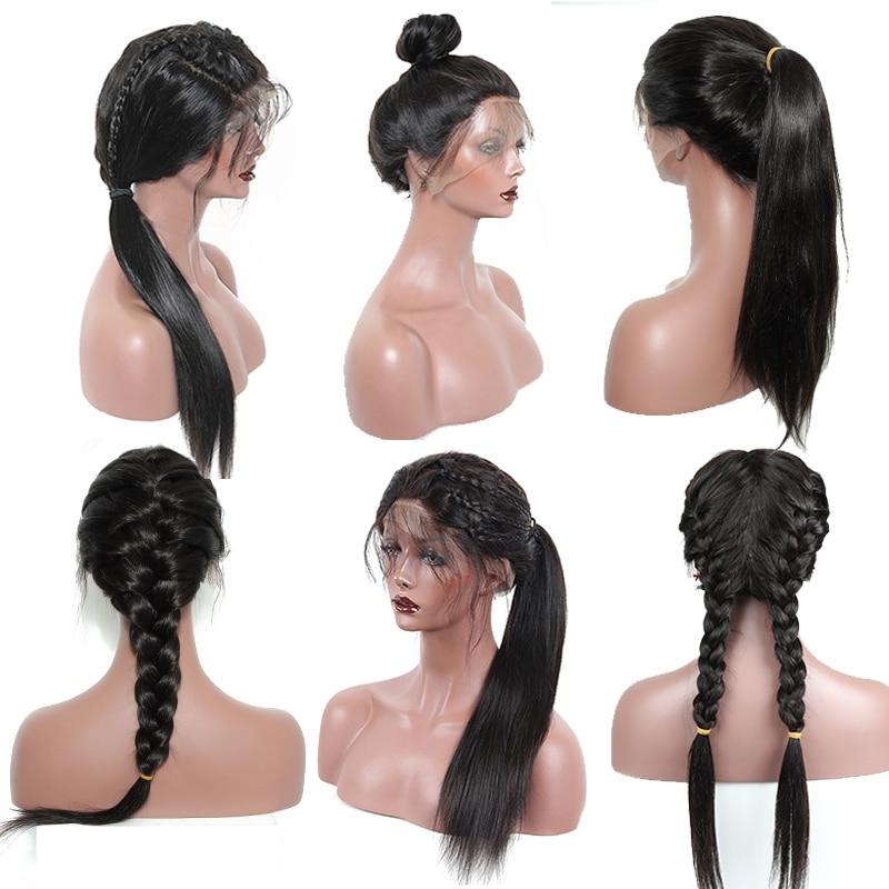 250 Density Lace Front Perruques De Cheveux Humains Pour Les Femmes - Cheveux humains (noir) - Photo 4