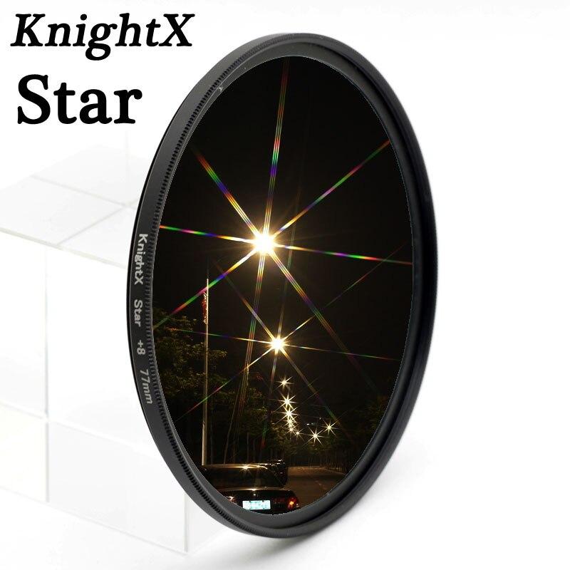 KnightX 52 58 67 mm Star filtra punkts līnijai Nikon D3200 D3100 D5100 D5000 D60 D40X 18-55mm lDSLR kameras d3300 49 55 72 77 62