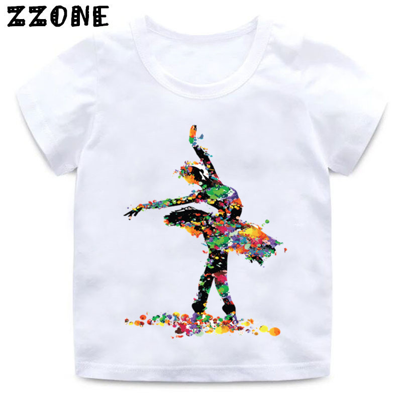 Baby Girls I Love Ballet Dancing Girl Design T shirt Kids Casual Clothes Enfant Summer White T-shirt,HKP5191 quire i can t keep calm parody t shirt