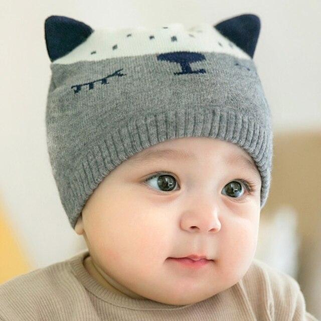 Musim dingin Bayi Topi Hangat Rajutan Anak Topi Aksesoris Bayi Laki-laki  gadis Topi Beanie eac3b36a3e