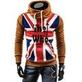 2017 Novo Design de Moda Mens Hoodies, masculino Causal Sportswear, homem Outerwear Treino Camisola, plus Size 4XL
