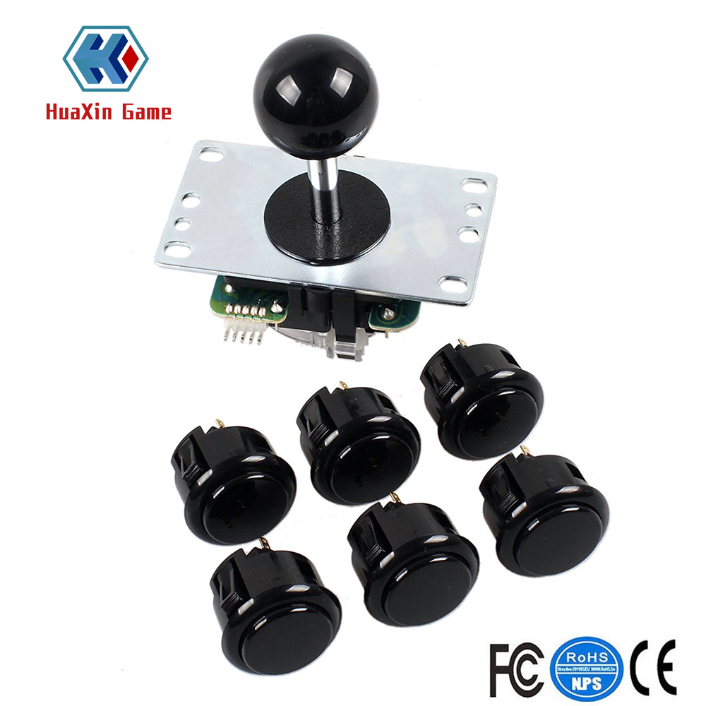 Denshi Japan JLF-TP-8YT Black Ball Top Handle OBSF-30 Push Buttons Arcade Joystick Part 4 & 8 Way Adjustable - Hori Fight Stick(China)