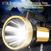 300 Вт ультра светодио дный мощный светодиодный прожектор usb зарядка фонарик перезаряжаемый встроенный 18650 аккумулятор тактический фонарь 40 ...