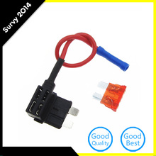 цена на 12V Fuse Holder Add-a-circuit TAP Adapter Standard ATM APM Blade Auto Fuse with 10A Blade Car Fuse with holder