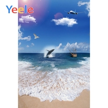 Yeele Ocean Whale View Seaside Vacation Wedding Portrait Photography Backdrops Sky Photographic Backgrounds For Photo Studio цена и фото