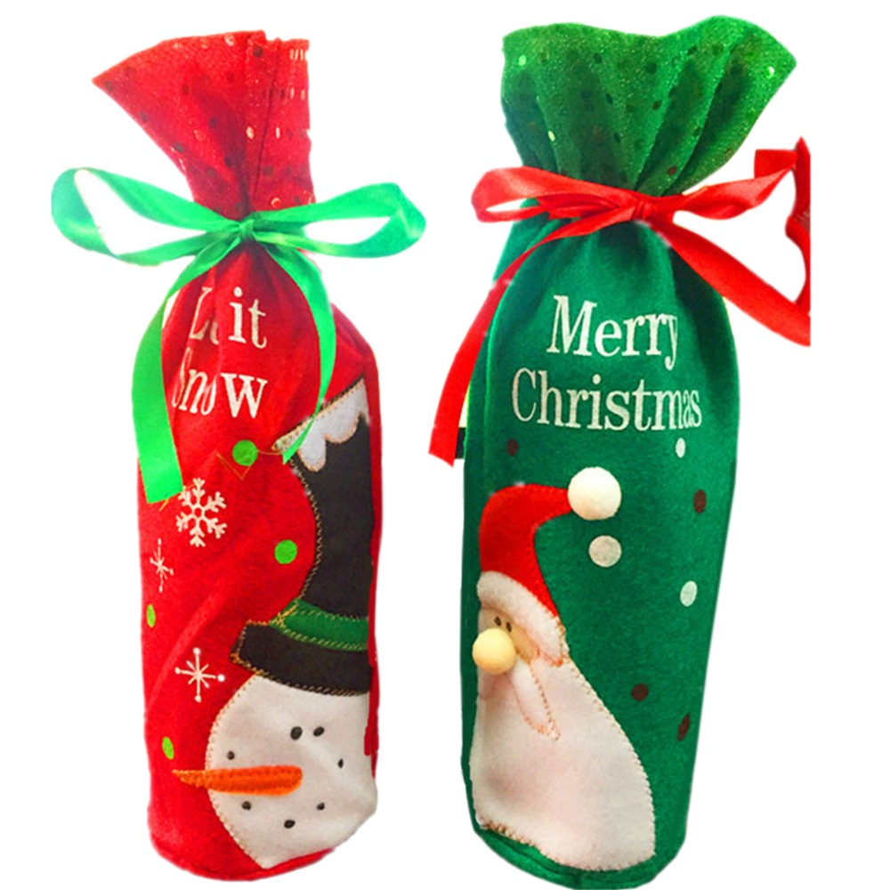 ᐂTime-limited Santa Claus Wine Bottle Bag 2017 Pretty Christmas ...