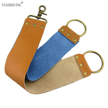 Canvas Leather Sharpening shaving Strop For Barber Straight Razor  Fold Knife Free shipping